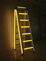 yellow stepladder by iván navarro