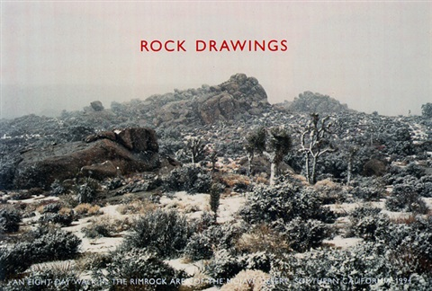rock drawings (portfolio of 13) by richard long
