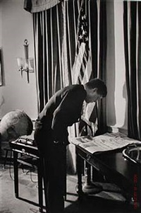 john f. kennedy in oval office, washington d.c. by alfred eisenstaedt