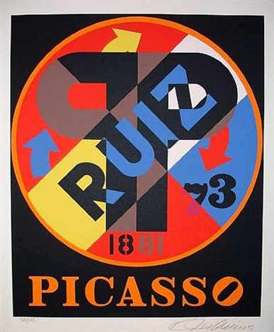 hommage to picasso by robert indiana