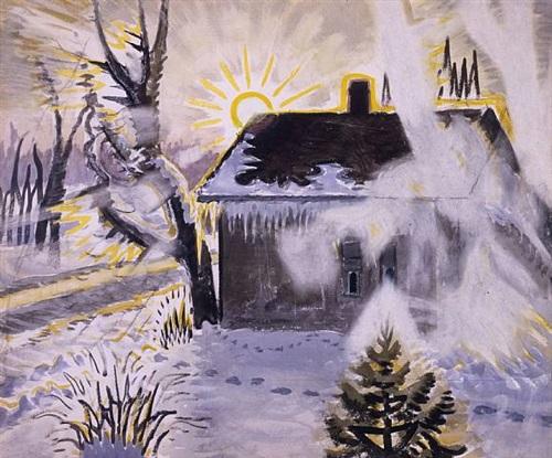 winter sunburst by charles ephraim burchfield