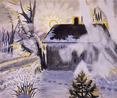 winter sunburst by charles ephraim burchfield