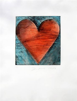 hearts by jim dine
