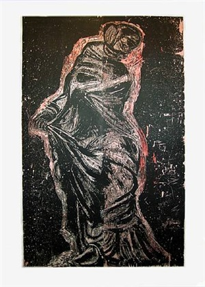 red dancer on the western shore by jim dine