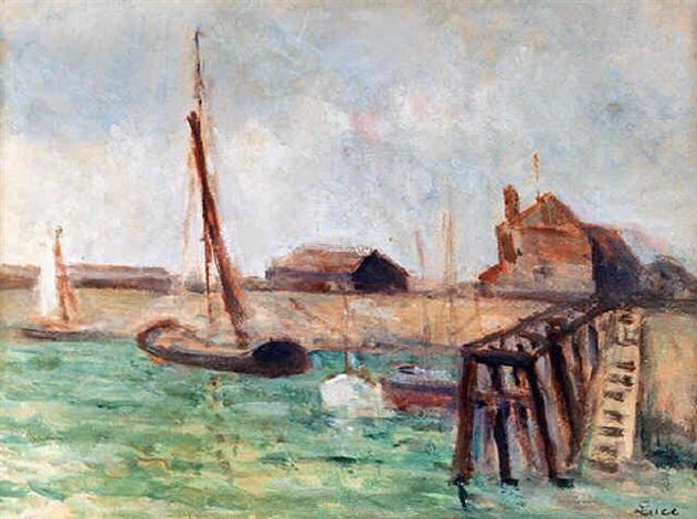 le chenal à marée basse, honfleur (51) by maximilien luce