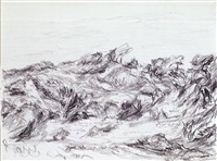 untitled (dunes with peaked brush) by myron stout