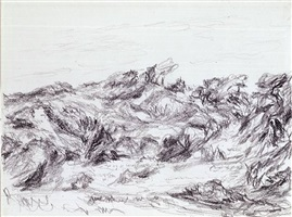 untitled (dunes with peaked brush) by myron stout