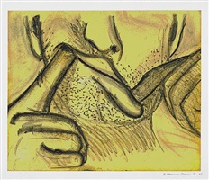 soft ground etching - yellow by bruce nauman