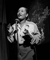 billie holiday, new york city by herman leonard