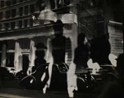 window reflections, fifth avenue, new york city by lisette model