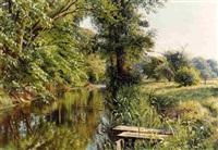 <i>reflections of spring</i> by peder mork monsted