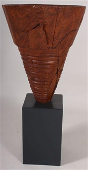 cherry burl vase by mark lindquist