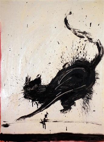 cat by richard hambleton