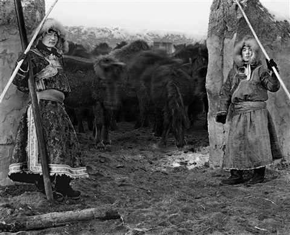 nomads mengke age 22 and mengkezhana age 23 inner mongolia november by a yin