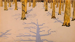 winter landscape with trees by charles ephraim burchfield