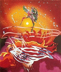 the bird of paradise approaches the hot water planet by james rosenquist