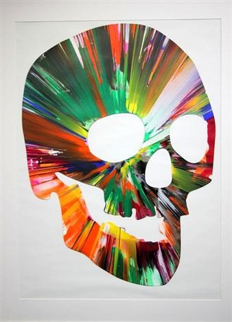 Skull Spin Painting By Damien Hirst On Artnet