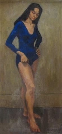 pensive ballerina by raphael soyer