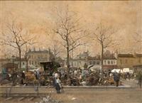 a busy parisian chattels bazaar by luigi loir