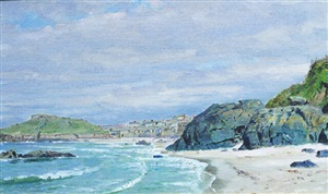 st. ives, cornwall by william trost richards