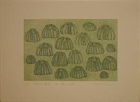 pumpkin army '85 (green) by yayoi kusama