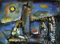 christ on the lake by georges rouault
