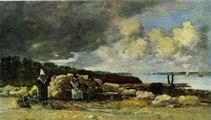 fisherwomen at brest by eugène boudin