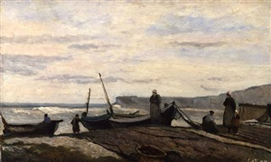 yport by jean-baptiste-camille corot