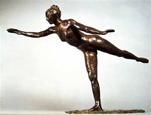 grande arabesque, second time by edgar degas