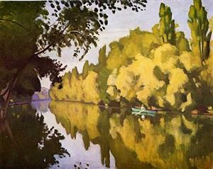 river scene by albert marquet