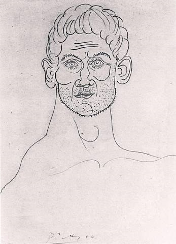 head of man by pablo picasso