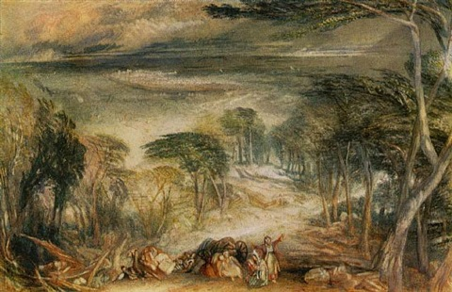cedars of lebanon by joseph mallord william turner