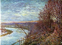 le loing by alfred sisley
