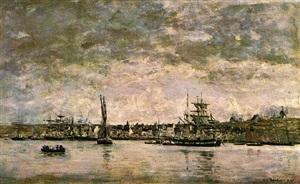 le port a camaret by eugène boudin