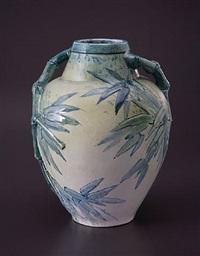 bamboo vase by edmond lachenal
