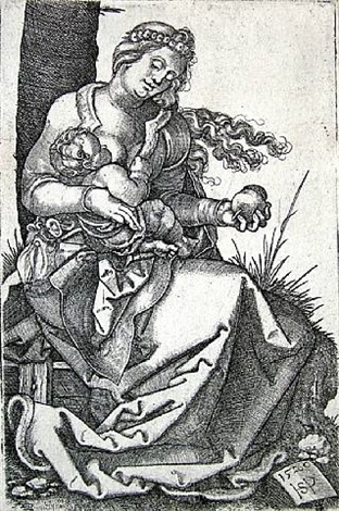 virgin and child with the pear by hans sebald beham