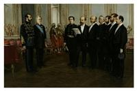 czar alexander ii receiving american diplomats by louis eugène leroux