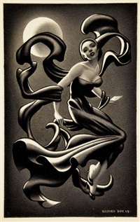 woman dancing, story illustration by hannes vajn bok