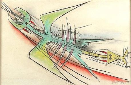 panorama latinoamericano ii two dozen works by master, mid-career artists by wifredo lam
