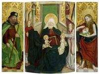 triptychon mit anna selbdritt und dem hl. jakobus d. ä. sowie johnnes d. täufer (triptych) by anonymous-german (15)