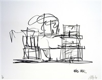 study for new gehry house by frank gehry