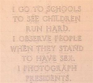 laments (i go to schools and see children run hard...)  detail by jenny holzer
