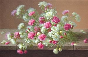 floral still life by raoul maucherat de longpré