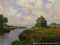 summer on long island sound (sold) by harley w. bartlett