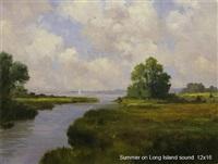 summer on long island sound (sold) by harley w. bartlett
