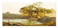 landscape with pond by carroll collier