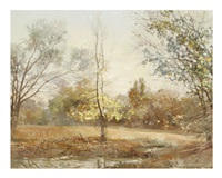 landscape with trees by carroll collier