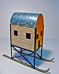 ski house scale proposal #1 by dennis oppenheim
