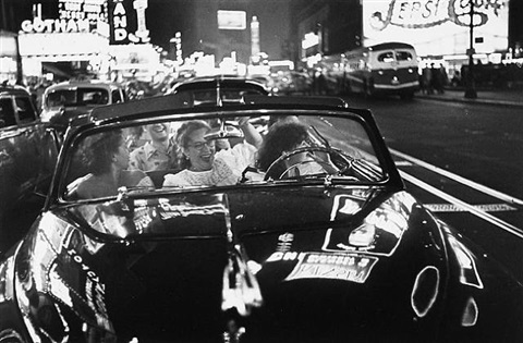 broadway convertible, new york by louis faurer
