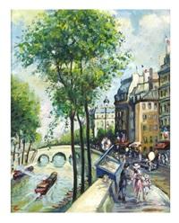 la seine, paris by philip a. corley